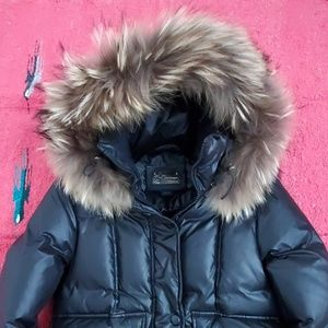 Mackage black puffer jacket xs